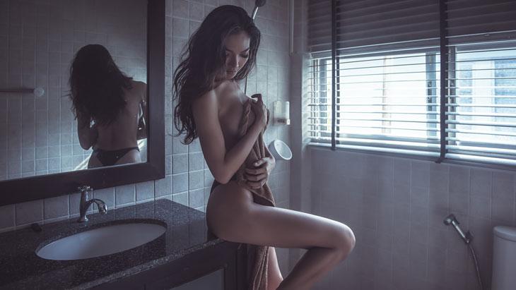 Sexy Female In Bathroom