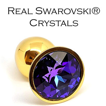 A small product image of Stainless Steel Plug with Swarovski Crystal
